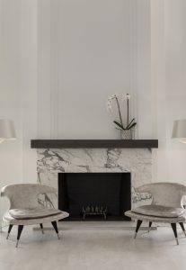 Calacatta Arabescato Marble Fireplace