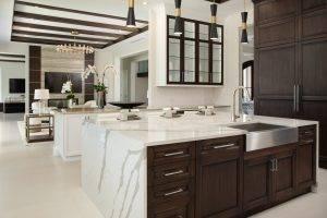 Verona Quartz Island Fire Place 300x200, Primestones® Granite, Quartz, Marble