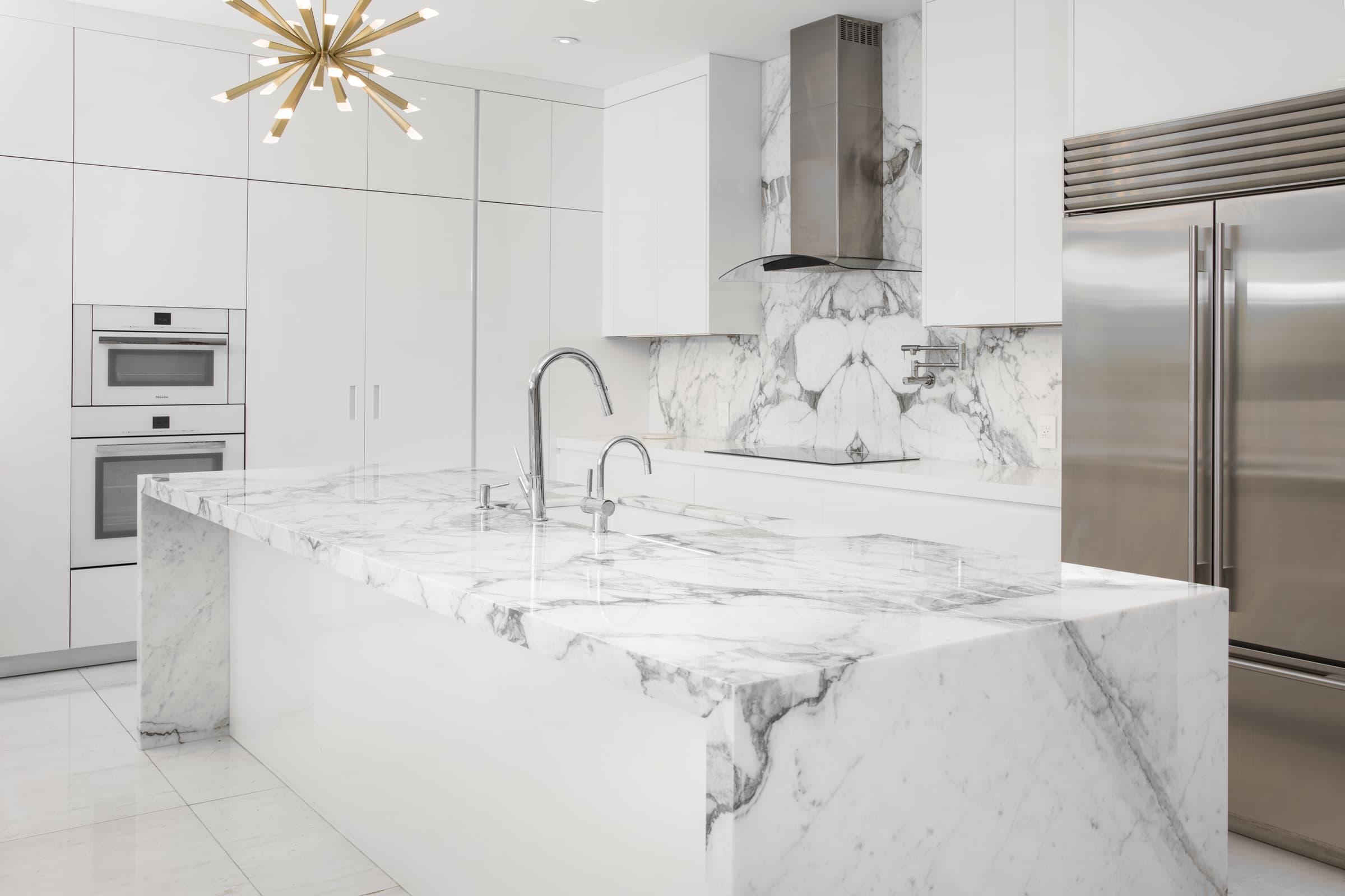 Calacatta Arabescato Kitchen, Primestones® Granite, Quartz, Marble