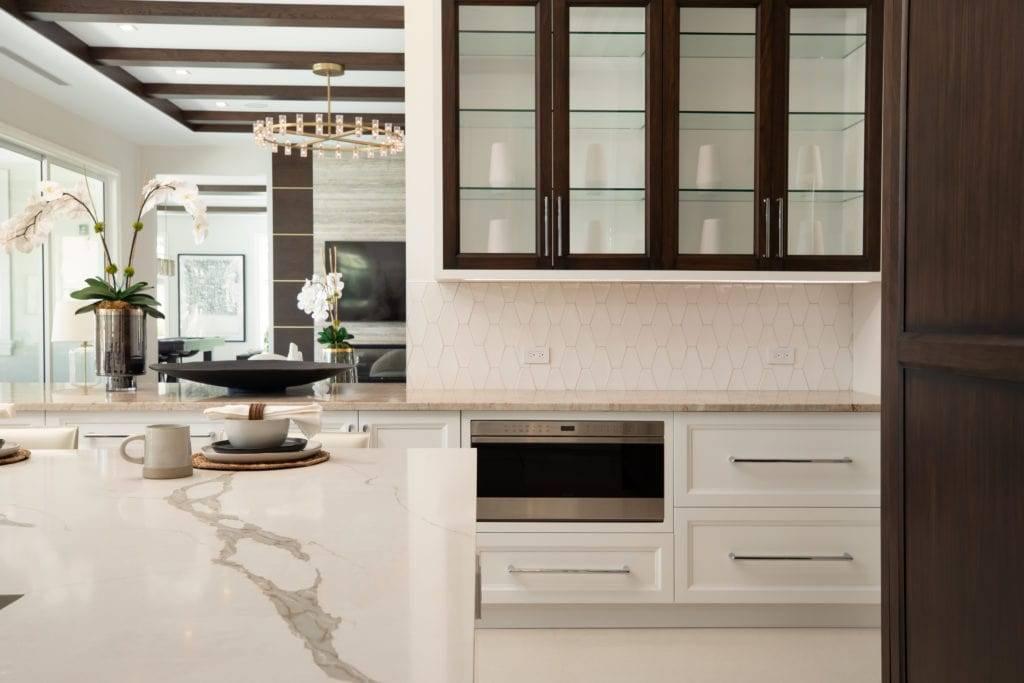 Verona Quartz Island Living Room 1024x683, Primestones® Granite, Quartz, Marble