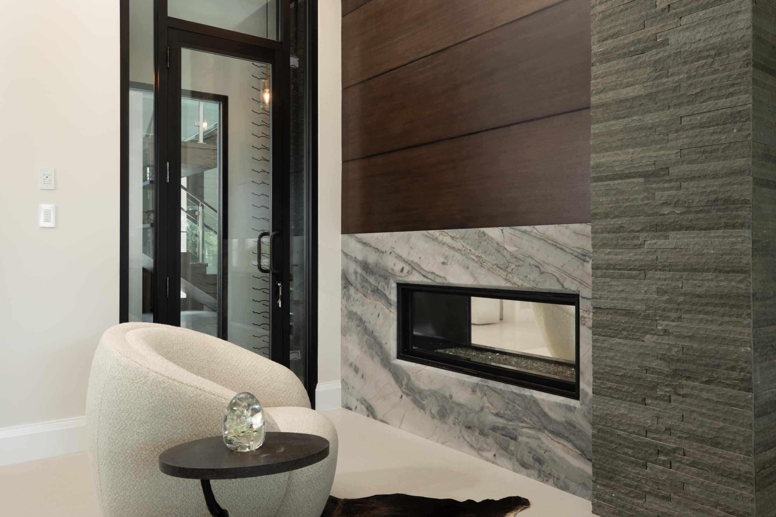 Blue Moon Fireplace Scaled, Primestones® Granite, Quartz, Marble